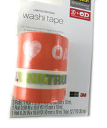 One Direction Washi Tape Limited Edition 1D OD 2013 3 Rolls Orange - $8.89