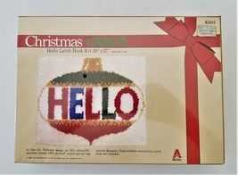 1980 Vintage Christmas Latch Hook Kit Welcome Rug Caron 20x27 Sealed Ornament - $42.50