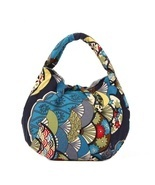 Free shipping Printed cotton cloth handmade handbag fashion bag - $322,08 MXN