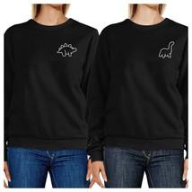 Dinosaurs BFF Matching Black Sweatshirts - $40.99+