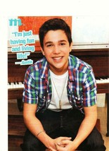 Austin Mahone teen magazine pinup clipping jeans piano open legs - $1.50
