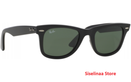 Ray Ban 2140 901 Classic Black Wayfarer Sunglasses 54mm New Authentic Ge... - $143.99