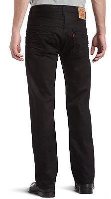 NEW LEVI'S 501 MEN'S ORIGINAL STRAIGHT LEG JEANS BUTTON FLY BLACK 501-0638