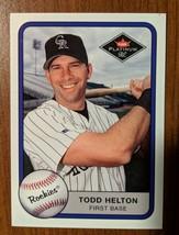Todd Helton Colorado Rockies 2001 Fleer Platinum #327 - Fast Shipping - $1.97