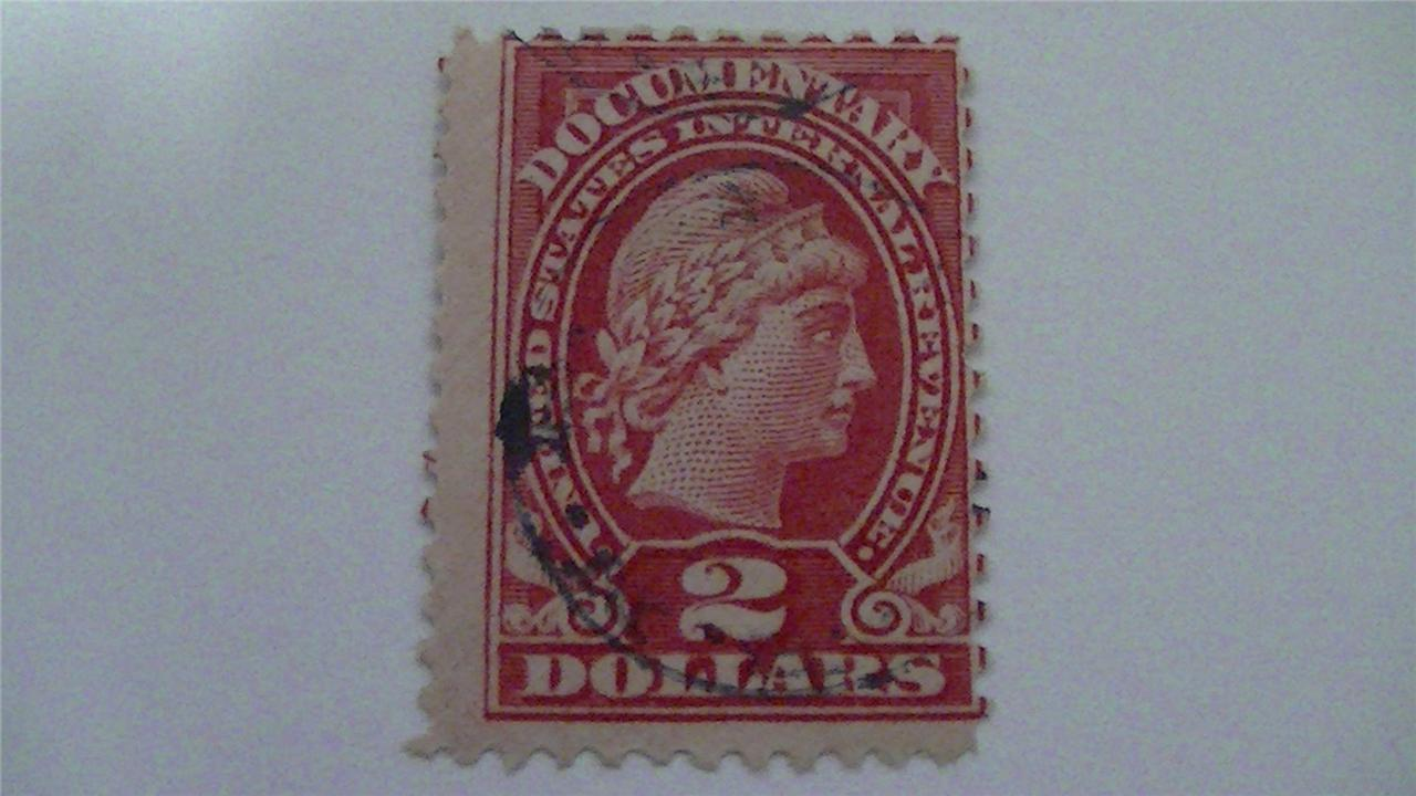 United States Internal Revenue Rose USA Used 2 Dollar Stamp
