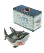 Shark Theme Piggy Bank, Ceramic Money Box, Shark Saving Coins Bank in Gi... - $18.25