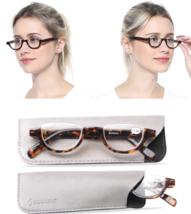 Reading Glasses Leopard Flat Top Semi-Rimless Women Men Reader Sights +3 +4 - $7.43+