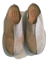 Women's Merrell Duet Groove Slip On Shoes Mules khaki Suede Size 6 - $56.42