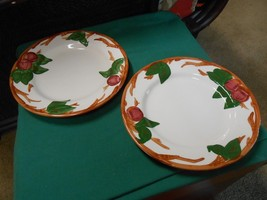"""-Magnificent FRANCISCAN  """"Apple"""" Pattern Set of 2 DINNER Plates - $11.49"""