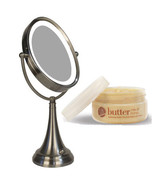Zadro LEDOVLV410 LED Oval Vanity Mirror and Cuccio Milk & Honey Body Butter - $109.99