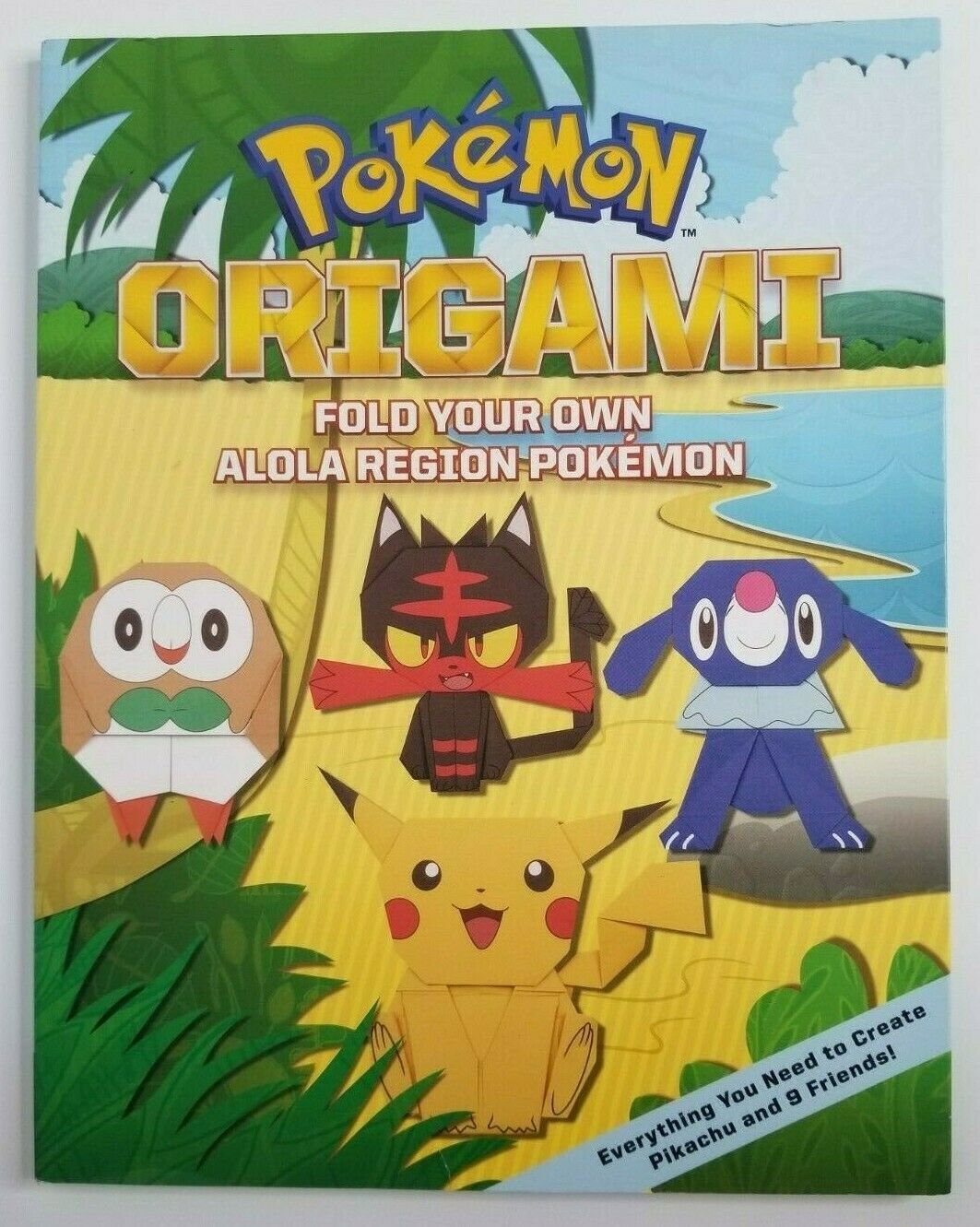 Primary image for POKEMON ORIGAMI Paperback Book Fold Your Own Alola Region Pikachu Rowlet Litten