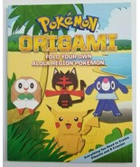 POKEMON ORIGAMI Paperback Book Fold Your Own Alola Region Pikachu Rowlet... - $14.99
