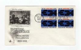 FDC ENVELOPE-EMANCIPATION PROCLAMATION CENTENNIAL -4BL 1963 ARTCRAFT CAC... - $1.96