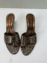 AK Anne Klein Womens Open Toe Mule leopard spots print size 6 1/2 - $18.65