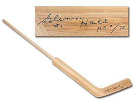 Glenn Hall Autographed Retro Wooden Goalie Stick - Chicago Blackhawks - $250.00