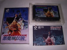 Used Akumajou Densetsu Castlevania 3 III Boxed Dracula Nintendo Famicom - $125.67