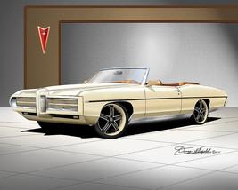 Pontiac Bonneville Custom GT 1969 art print poster by artist Danny Whitf... - $89.10