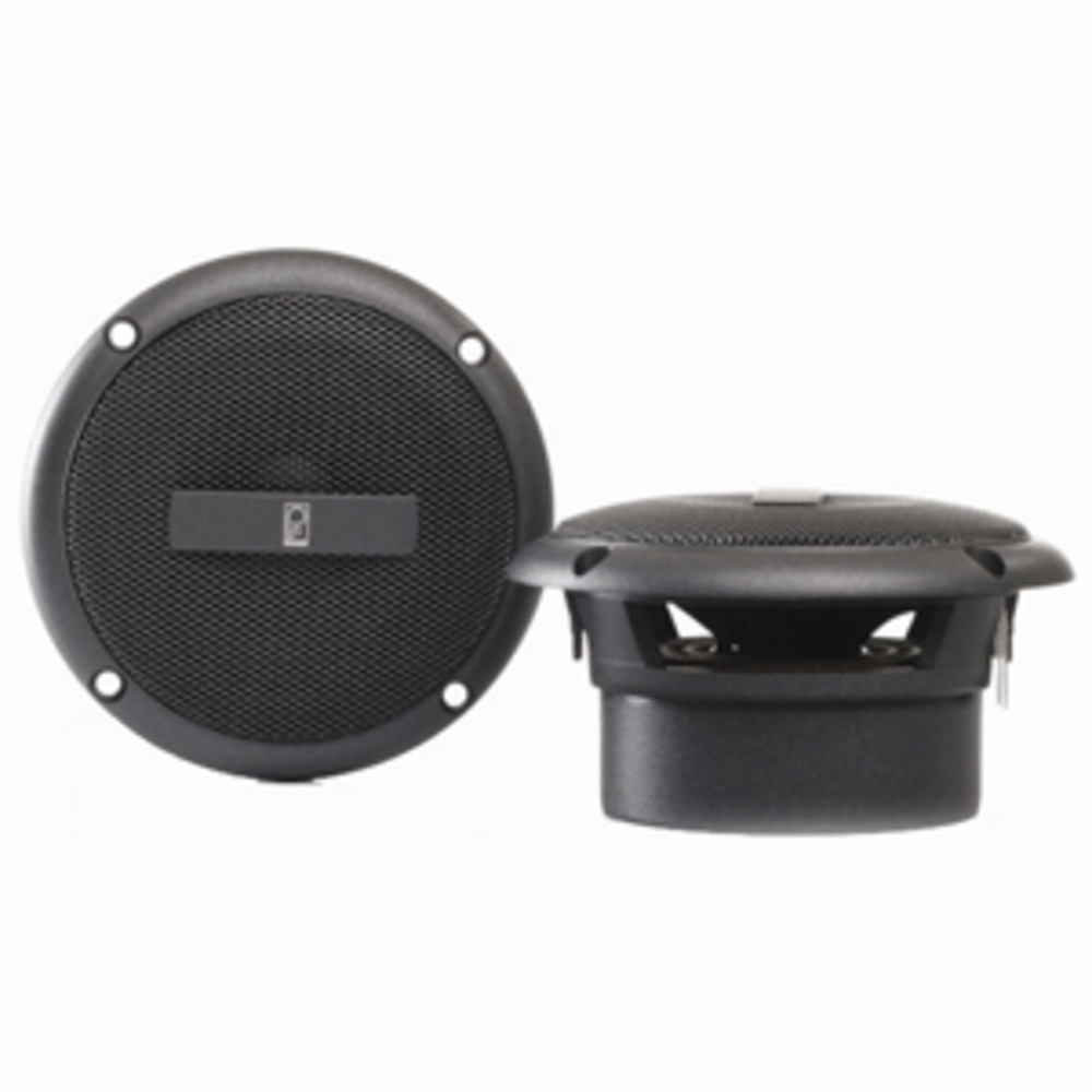 Poly-Planar 3 Round Flush-Mount Compnent Speakers - (Pair) Gray