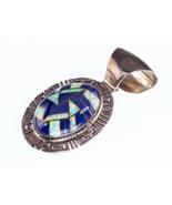 Argento Sterling Navajo Lapislazzuli & Opale Intarsio Ciondolo - $136.95