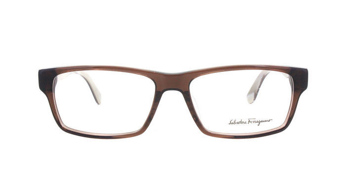 c601ba883145 Ferragamo Eyeglasses 2640 Brown 210 Men s Designer Optical Frame SF2640 56mm