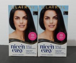 2 Packs WOMAN'S CLAIROL nice'n easy Permanent Hair Dye,  COLOR #2 Black ... - $15.00
