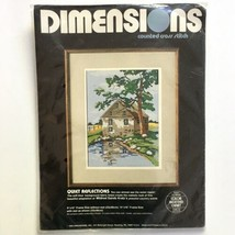 Dimensions Quiet Reflections Cross Stitch Kit Cabin Country Pond 3586 Vt... - $24.74