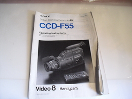 sony  ccd-f55  manual   - $0.99
