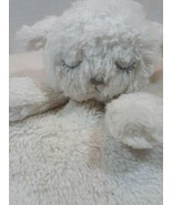 ** Just Born White Lamb Sheep Silver Sparkle Glitter Blanket Lovey Rattle - $17.33