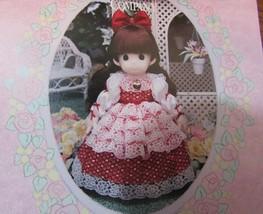 """Precious Moments Classic doll """"RACHAEL"""" 16"""" BROWN HAIR RED DRESS - $31.19"""