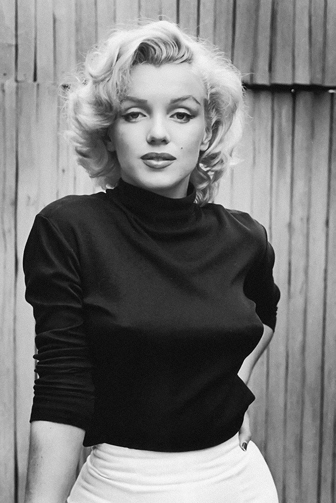 Marilyn monroe poster 24x36 inches bw