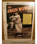 1 page Lou Gehring The Iron Horse 1991 Sports Pages 1991, 5273-01 - $8.99