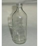 Vintage Glass Pepsi Cola Bottle Textured Embossed Lettering 1 Pt or 16 ozs - $20.00
