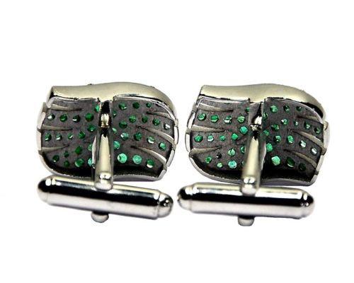 925 Sterling Silver Natural Fine Quality Emerald Gemstone Artistic Design Men's
