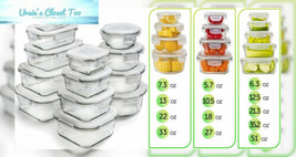 [13-Pack] Glass Storage Containers with Lids - Food Airtight - With - Me... - $52.90