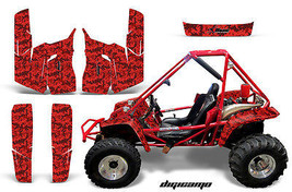 UTV Graphics Kit Decal Sticker Wrap For Honda Odyssey 350 4X4 1985 DIGICAMO RED - $247.34