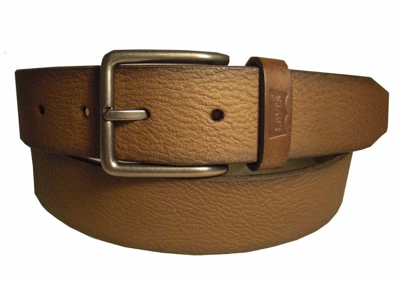NEW LEVI'S MEN'S STYLISH CLASSIC PREMIUM GENUINE LEATHER BELT BROWM 11LV02UH