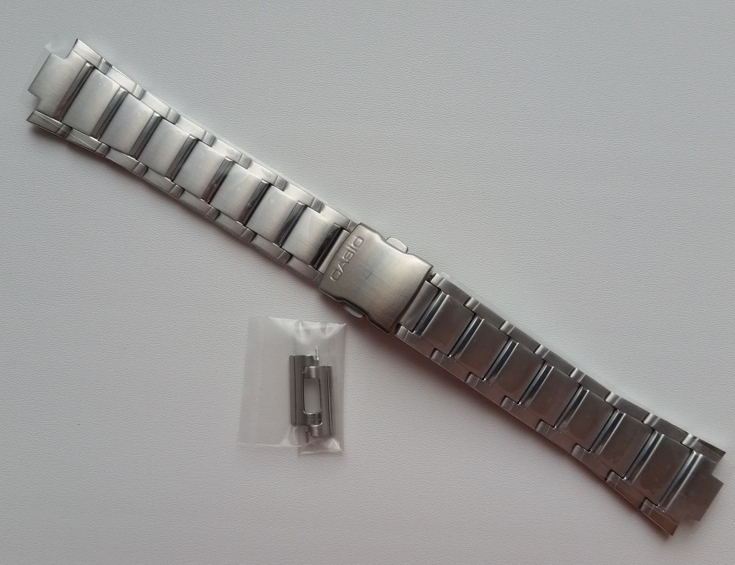 Primary image for Genuine Replacement Watch Band 17mm Stainless Steel Bracelet Casio EFA-120D-1A