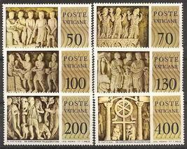 1977 Sculptures Set of 6 Vatican City Postage Stamps Catalog Number 623-28 MNH