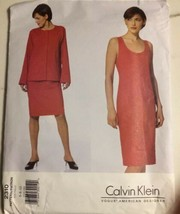 VOGUE 2310 Vtg 90's Slip Dress & Jacket CALVIN KLEIN Sewing Pattern 6-8-10 - $6.89
