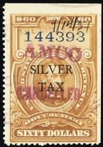 RG20, Used F/VF $60 Silver Tax Stamp - Scarce! Cat $90.00 - Stuart Katz - $65.00