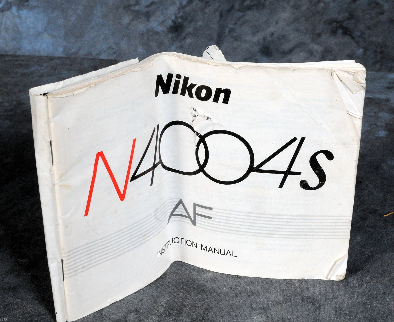 Primary image for Nikon Camera N4004s AF Manual Guide Genuine