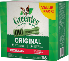 Greenies Regular Dental Dog Treats By Greenies, 36 count - $45.96 CAD