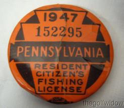 3 Vintage Pennsylvania Fishing Licenses 47-50-53 image 2