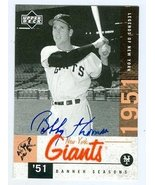Bobby Thomson autographed Baseball Card (New York Giants) 2001 Upper Dec... - $23.00