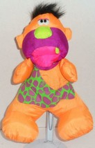 "VINTAGE FISHER PRICE 1992 GRUNTING ORANGE CAVEMAN PUFFALUMP 13"" PLUSH DO... - $14.99"