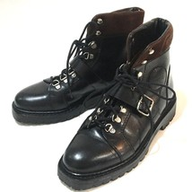 AUTHENTIC GUCCI Leather Lace-Up Short Boots Black Size36.5 - $415.00