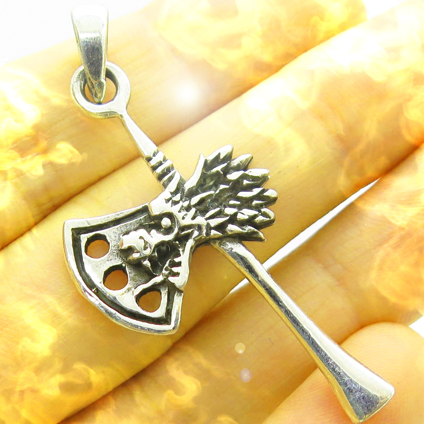 Dragon ax haunted pendant 1