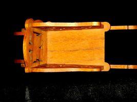 Wood wheel barrel replica with scroll cut Design AA19-1637 Vintage image 6