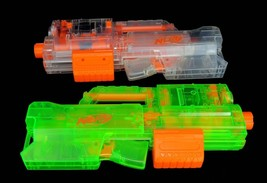 x2 Nerf N-Strike Deploy CS-6 Blaster Dart Gun Lot Scope Clear Translucen... - $39.95