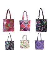Vera Bradley Tote Bag Pink Swirls Tutti Frutti Plum Crazy Petal Paisley - $116.08